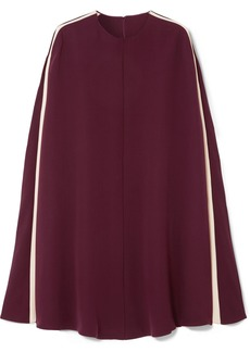 Valentino Cape-effect silk-blend mini dress