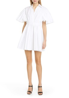 Valentino Cape Sleeve Poplin Shirtdress