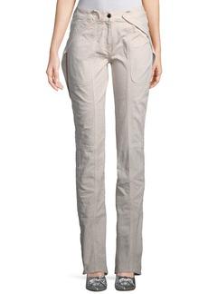 Valentino Cargo Straight-Leg Denim Jeans