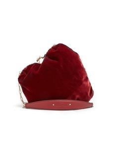 Valentino Carry Secrets heart-shaped velvet bag