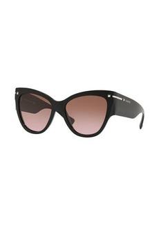 Valentino Cat-Eye Acetate Sunglasses w/ Rockstud Trim