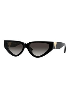 Valentino Cat-Eye Acetate Sunglasses w/ V Temples