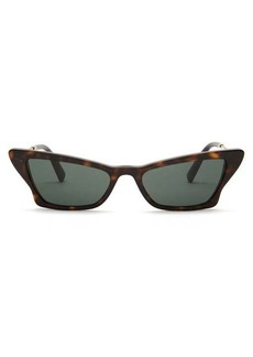 Valentino Cat-eye tortoiseshell-effect sunglasses
