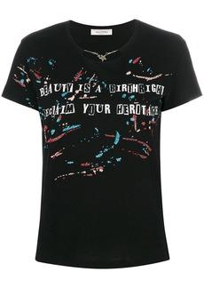 Valentino chain neck printed T-shirt