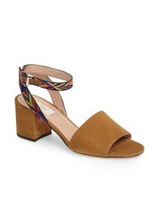 Valentino Chevron Block Heel Sandal (Women)