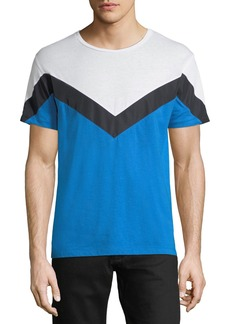 Valentino Chevron-Pattern Cotton T-Shirt