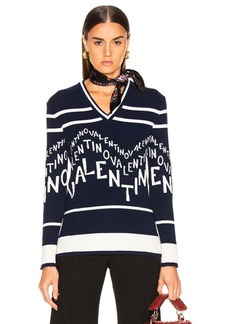 Valentino Chevron Sweater