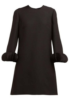 Valentino Chiffon-trimmed wool-blend crepe mini dress