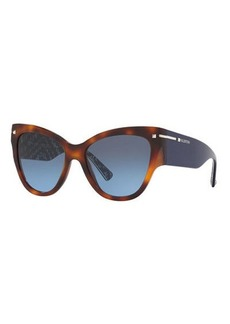 Valentino Chunky Cat-Eye Acetate Sunglasses