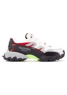 Valentino Climbers leather and mesh trainers