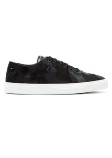 Valentino Clipit suede and leather trainers