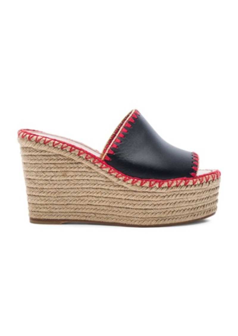 Valentino Color Crochet Leather Wedges