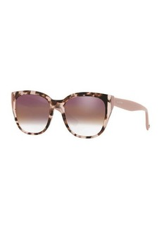 Valentino Colorblock Acetate Square Sunglasses
