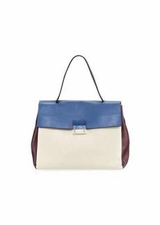 Valentino Garavani Colorblock Leather Satchel Bag