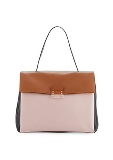 Valentino Garavani Colorblock Top-Handle Satchel Bag