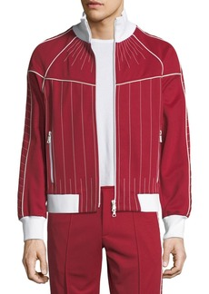 Valentino Contrast-Embroidered Track Jacket