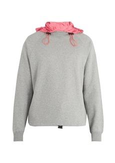 Valentino Contrast-hood cotton-blend sweatshirt