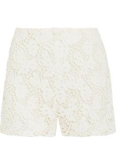 Valentino Cotton-blend guipure lace shorts