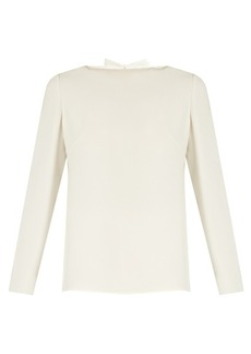 Valentino Cowl-back silk-crepe top
