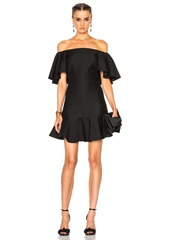 Valentino Crepe Couture Off The Shoulder Dress