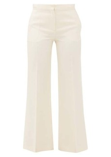 Valentino Crepe Couture wool-blend kick-flare trousers