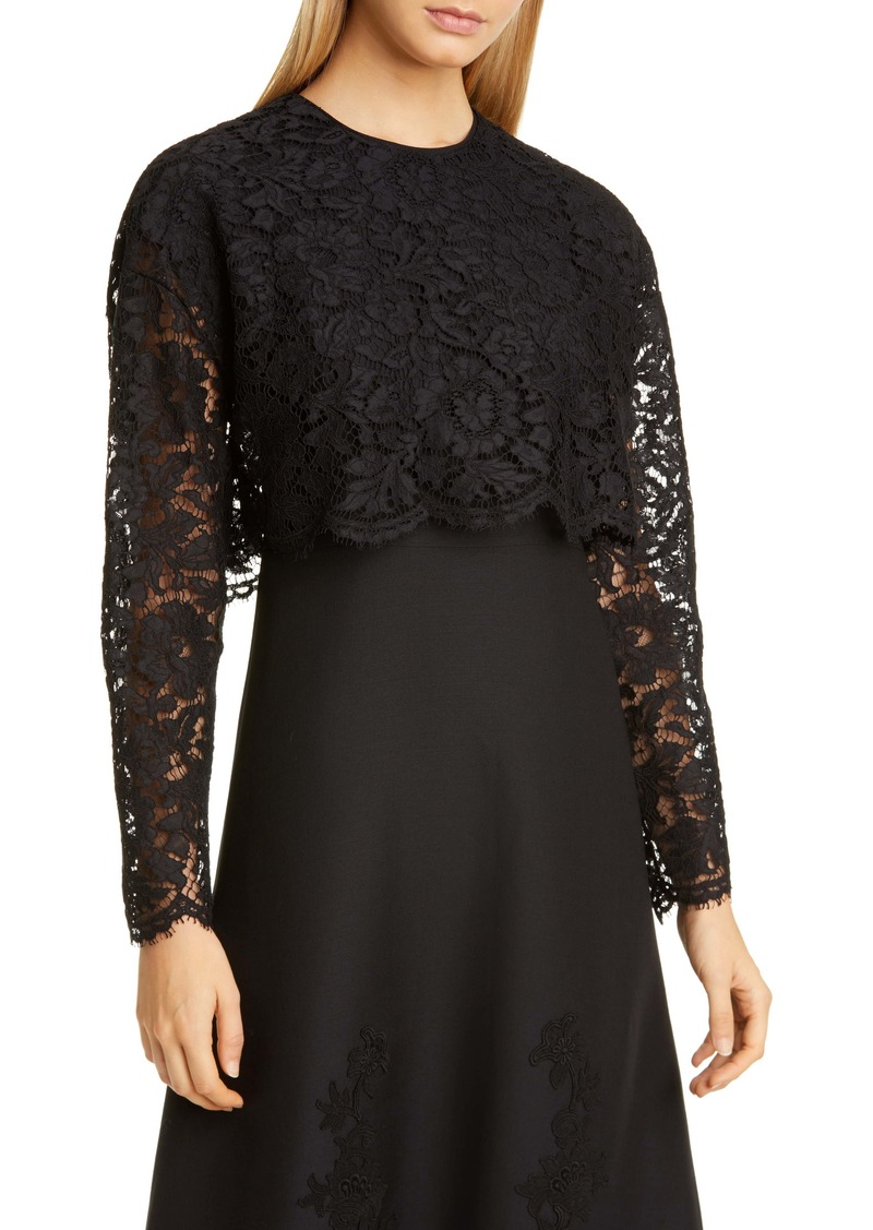 Valentino Crop Lace Top