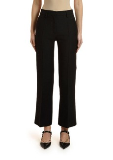 Valentino Cropped Crepe Trousers