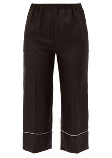 Valentino Cropped silk pyjama trousers