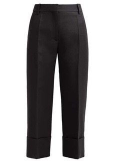 Valentino Cropped wide-leg wool-blend trousers