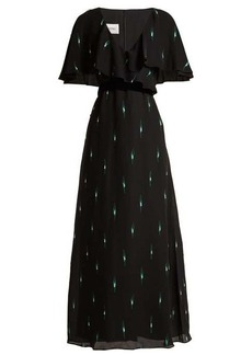 Valentino Crystal-embellished silk crepe de Chine gown