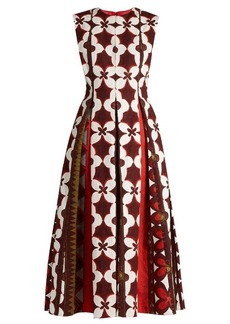 Valentino Cuban Flower-print cotton-blend dress