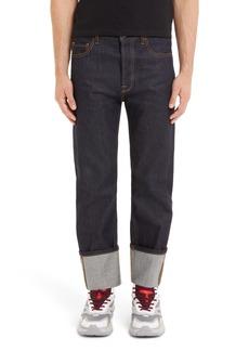 Valentino Slim Fit Cuff Jeans