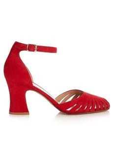 Valentino Cut-out suede pumps