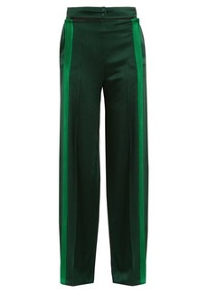 Valentino Cut-out waist hammered-satin trousers