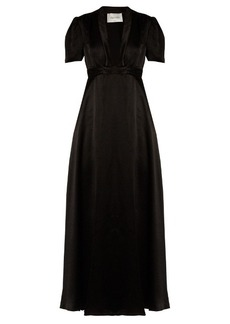 Valentino Deep V-neck satin gown