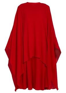 Valentino Detachable-cape silk-crepe dress