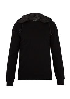 Valentino Detachable-hood wool sweater