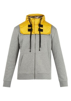 Valentino Detachable-hood zip-up cotton-blend sweatshirt