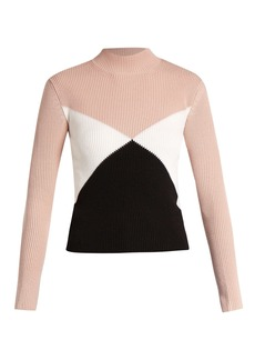 Valentino Diamond-intarsia wool sweater