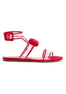 Valentino Dollybow bow-embellished velvet sandals