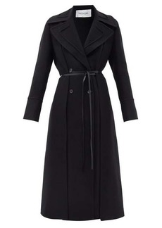 Valentino Double-breasted belted wool coat