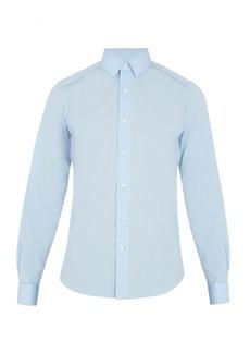 Valentino Double-cuff cotton-poplin shirt