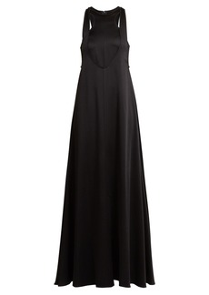 Valentino Double-layered hammered-satin gown