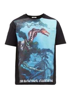 Valentino Dragons Garden cotton-jersey T-shirt