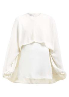 Valentino Draped-front silk blouse