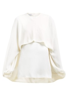 Valentino Draped-front silk blouse