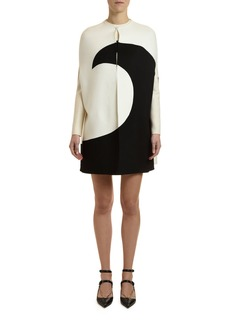 Valentino Draped Moon-Print Cape