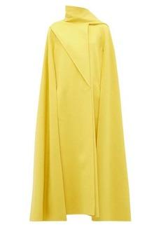 Valentino Draped-panel wool-blend cape coat