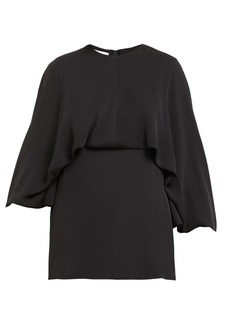 Valentino Draped silk-georgette blouse
