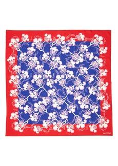 Valentino Elderflower Silk Twill Scarf